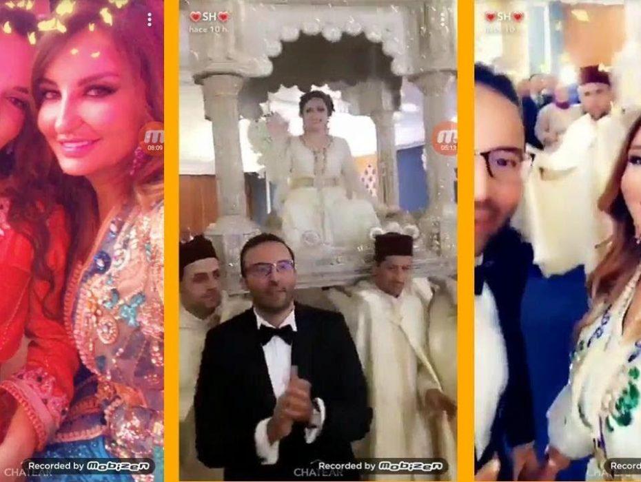 """صورة شذى حسون تحتفل بحفل زفاف أسطوري لـ شقيقها """"وائل"""".. شاهدوا إطلالتها"""