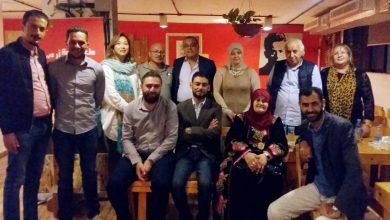"""صورة أمسية أدبيّة للرّوائي د.عاطف أبو سيف في مقهى """"أرسطو"""" الثقافيّ"""