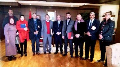 صورة المنظمة الديمقراطية للشغل في لقاء مع الدكتورمحمد الأعرج وزير الثقافة والاتصال