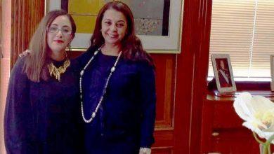صورة السفيرة كريمة بنيعيش تستقبل  بمدريد ممثلة وكالة اخبار المراة باوروبا