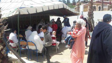 صورة جمعية ابن رشد للصحة والتنمية تنظم قافلة طبية ناجحة لجماعة تزروت نواحي مولاي عبد السلام بن امشيش