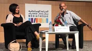 Photo of الممثلة سعاد خويي تتألق بالخزانة الوسائطية بخريبكة