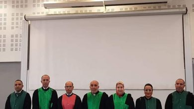 Photo of الأستاذ رضوان الدهدوه نائب وكيل الملك لدى المحكمة الإبتدائية بطنجة يناقش دكتوراه الدولة.