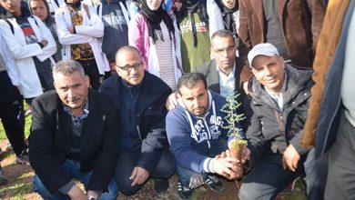 صورة إنطلاق عملية تشجير المؤسسات التعليمية بإقليم برشيد
