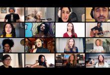 """Photo of آمال مثلوثي تجمع أربعين فنان عربي وعالمي في أوبريت """"كلمتي حرة"""