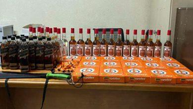 صورة مصالح الشرطة القضائية بطنجة توقف شخص متورط في بيع المشروبات الكحولية المهربة و مادة السيليسيون