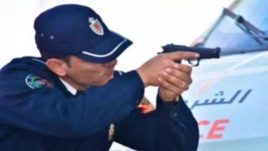 صورة رصاصة في البطن من مقدم شرطة تنهي عربدة مجرم ذوي السوابق القضائية بالخميسات