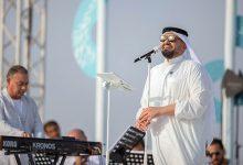 Photo of حسين الجسمي يحتفل باليوم الوطني السعودي الـ90 على شاطىء الرأس الأبيض