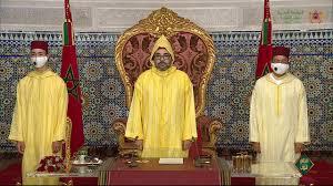 صورة الملك محمد السادس يدعو في خطابه الى تحمل المسؤولية وخدمة المواطنين.