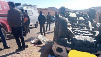 صورة حادثة سير خطيرة لسيارة اسعاف تربط بين ميسور والمرس تخلف ضحايا بالجملة.