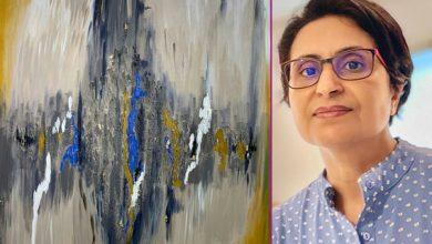 صورة الفنانة التشكيلية خديجة الحطاب .. لوحاتي توّثق الأمل وثقافة حب الحياة
