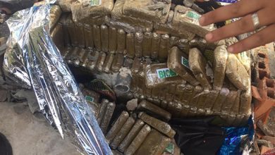 صورة حجز 25 كيلوغرامات مخبأة داخل مجسم لنافورة تقليدية مغطى بالزليج داخل سيارة كانت متوجهة إلى اسبانيا