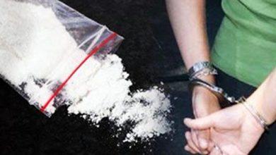 صورة توقيف شخص في حالة تلبس وهو يوزع مخدر الكوكايين بحي مغوغة بطنجة