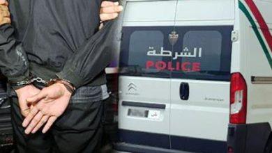 صورة توقيف شخص مشتبه به في ترويج المخدرات القوية بحي البرانص بطنجة .