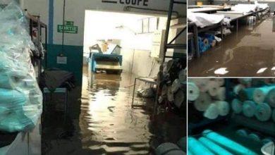 صورة انتشال 30 جثة إثر حادث تسرب مياه الأمطار لوحدة سرية لمصنع النسيج بطنجة