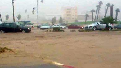 صورة الأمطار تتسبب في توقف حركة السير بتطوان والنواحي…تحذير للسائقين