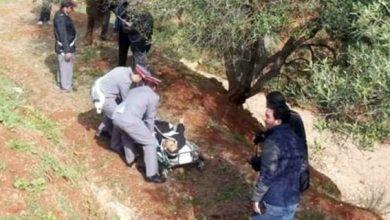 صورة العثور على جثة معلقة في شجرة باكزناية بطنجة