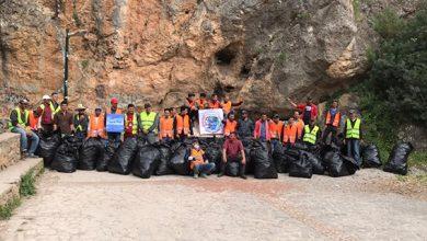 صورة المجتمع المدني بمنتزه اقشور السياحي بشفشاون ينظم حملة النظافة