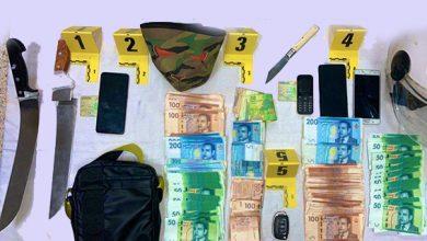 صورة توقيف شخصين تورطا في ارتكاب سرقة تحت التهديد باستعمال العنف من داخل وكالة بنكية
