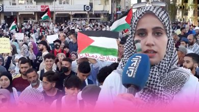 صورة وقفة احتجاجية لنصرة الاقصى ودعم القضية الفلسطينية بمدينة طنجة