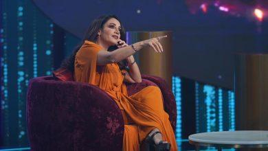 """صورة ديانا حداد إيجابية وطموحة في برنامج """"مشاهير"""" على تلفزيون دبي."""