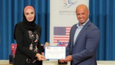 صورة مديرة مكتب مجلة رائدات بالاردن الاستاذة سهير ضراغمة تحصل على المركز الأول في مسابقة إعلام السلام