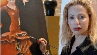 صورة الفنانة التشكيلية كميليا الزرقاني .. إحساس إبداعي ولوحات في غاية الجمال