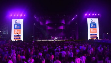 صورة شاشو يفتتح حفل الهضبة عمرو دياب في العلمين بعرض موسيقي مبهر