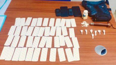 صورة توقيف شخصين متورطين في ترويج المخدرات القوية