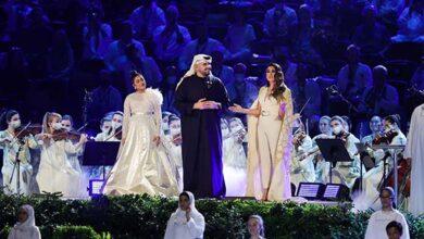 """صورة حسين الجسمي يقود حفل إفتتاح """"إكسبو 2020 دبي"""" برائعة الشيخ زايد """"حي بالشهامة"""""""