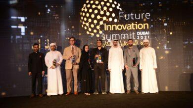 """صورة قمة المستقبل للابتكار"""" تكرم الجامعة الأمريكية في الإمارات AUE لتميز مشروعات طلابها في دبي"""