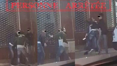 صورة توقيف شخصين بسبب تعريض ضحية لاعتداء بالضرب والجرح باستعمال السلاح الأبيض بأحد أحياء مدينة طنجة.